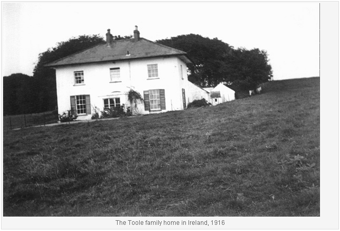 The Toole Family Home in Ireland 1916