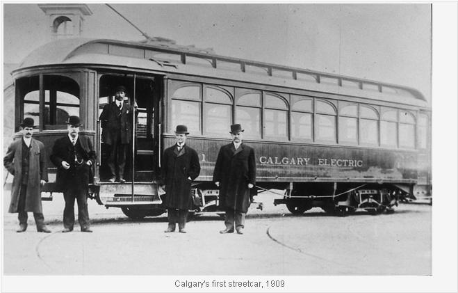 Calgary's first streetcar 1909