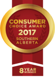 Consumer Choice Award 2017 Southern Alberta 8 Year Winner