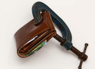 c-clamp pinching wallet closed