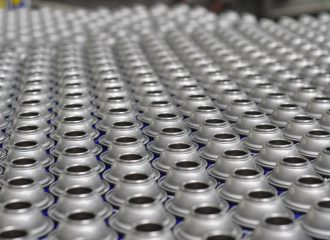 rows of cans