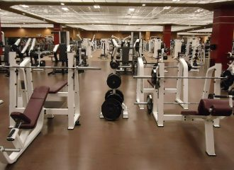 workout equipment in a fitness club