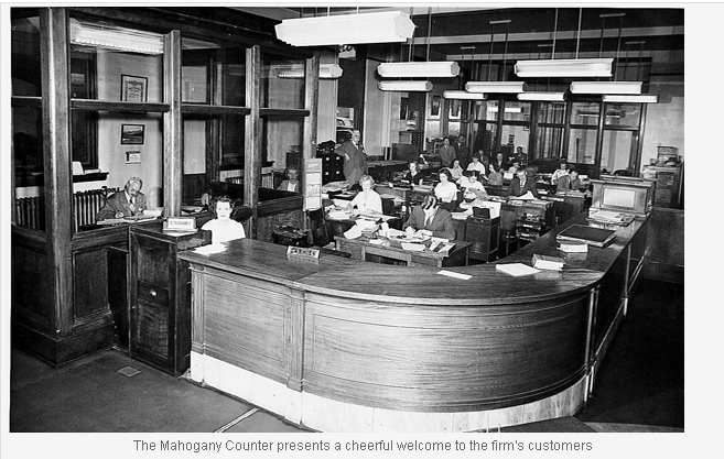 mahogany Counter at Toole Peet Insurance