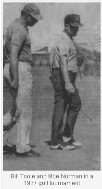 Bill Toole and Moe Norman at 1967 golf tournament