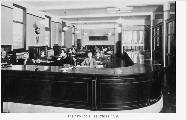 The new Toole Peet Offices 1926