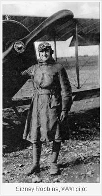 Sidney Robbins, WWI Pilot