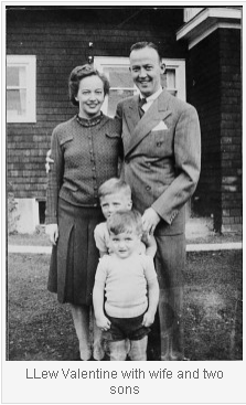 L.Lew Valentine with his wife and two sons