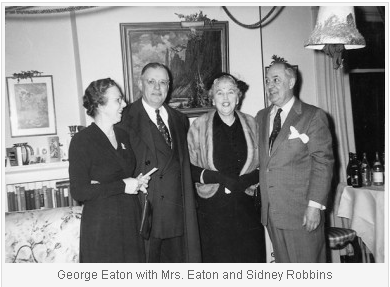 George Eaton, with Mrs. Eaton and Sidney Robbins