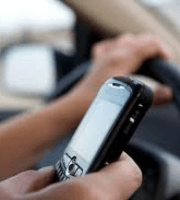 cellphone being used by a distracted driver