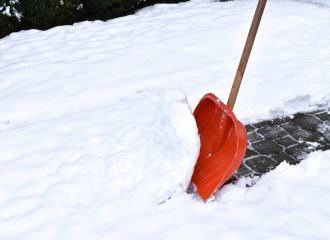 shovel clearing snow