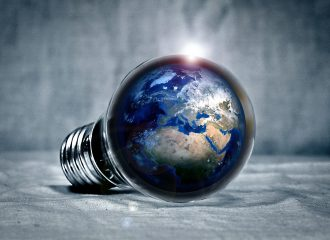 the earth inside a lightbulb
