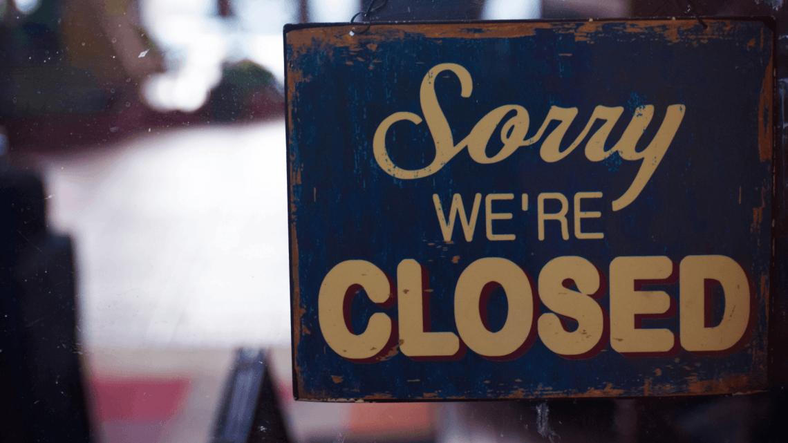 Business Closed image