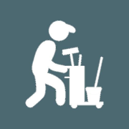 White janitorial icon