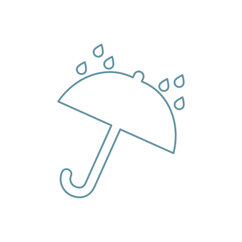 White umbrella icon