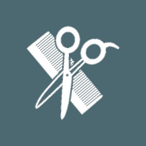 White salon tools icon