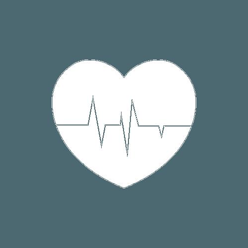 white heart icon