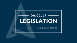 Legislation change June 1 2019 drones