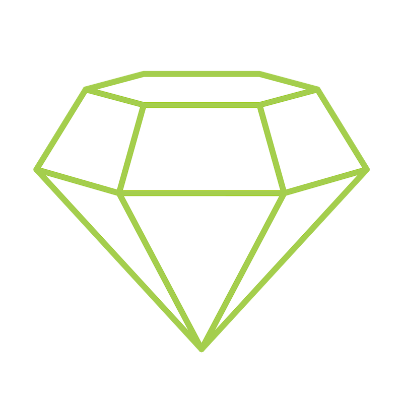 Green Diamond Icon